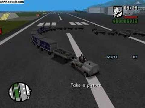 GTA San Andres airport tug train - YouTube: https://www.youtube.com/watch?v=4maVqiJNNXs