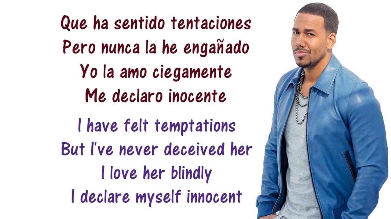 Romeo Santos - Inocente Lyrics English and Spanish - Translation ...Romeo Santos - Inocente Lyrics English and Spanish - Translation & Meaning  - Letras en inglés