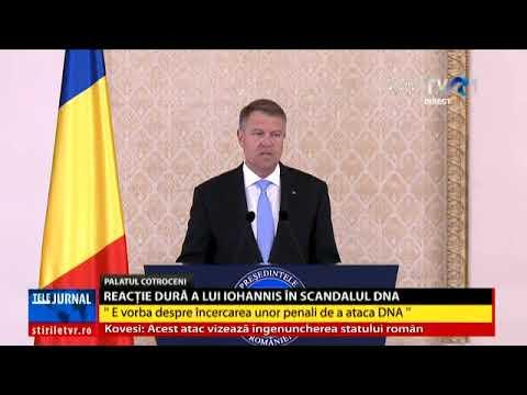 Klaus Iohannis: Niște penali fac o încercare disperată să atace și să discrediteze DNA