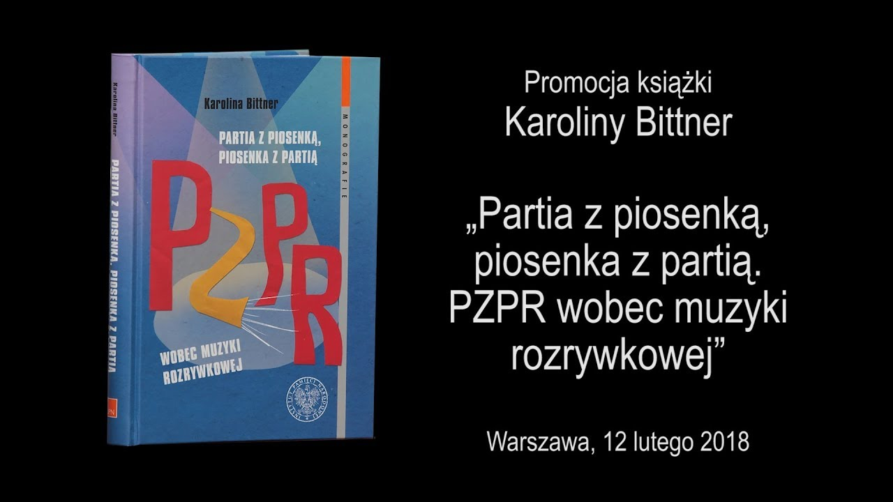 """IPNtv – Promocja książki Karoliny Bittner """"Partia z piosenką,…"""""""