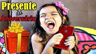 GANHEI UM IPHONE 7 PLUS VERMELHO - PRESENTE DE ANIVERSÁRIO