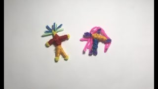 Silly Billy Story Massage Activity: How to make worry dolls.