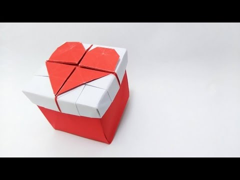 Valentines Day Ideas Origami 3d Heart Box Youtube