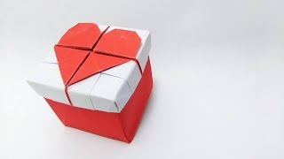 Valentine's Day ideas: Origami 3D Heart Box