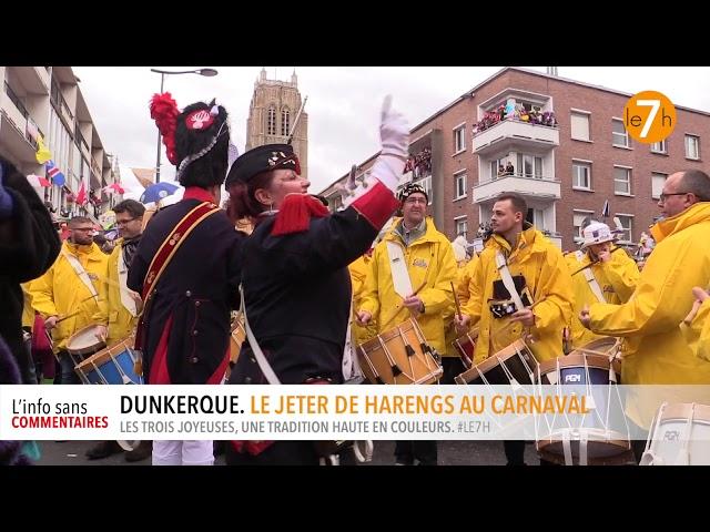 Dunkerque. Le jeter de harengs au carnaval