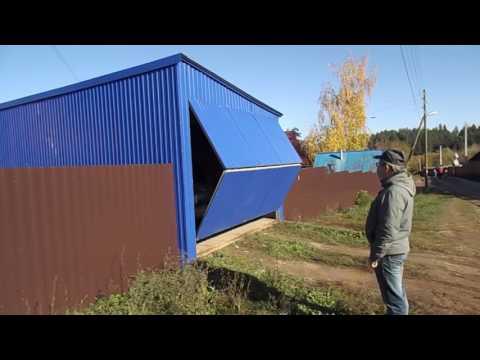 видео: Самодельные ворота с телеуправлением от автомобильной сигнализации.