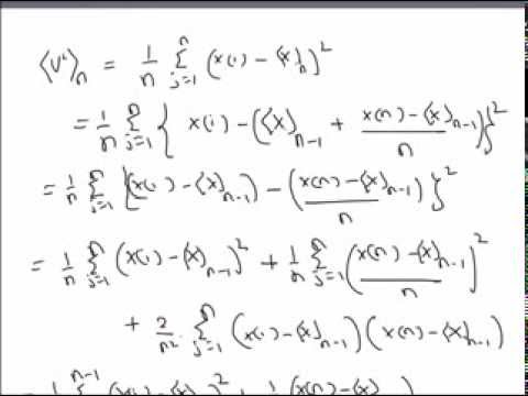 Recursive Formula For Sample Variance   YouTube