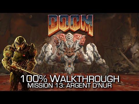 DOOM - Mission 13: Argent D'Nur 100% Walkthrough - ALL SECRETS/COLLECTIBLES & CHALLENGES