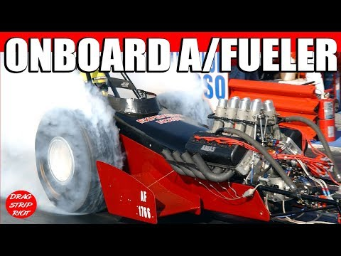 2013 March Meet On-board Camera A/Fuel Front Engine Dragster Nostalgia Drag Racing Videos