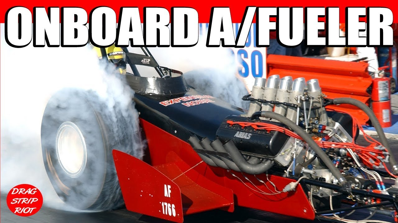 2013 Nitro A/Fuel Dragster Drag Racing Onboard Car March ...