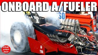 2013 March Meet Onboard Nitro A Fuel Dragster Mike Burns  Nostalgia Drag Racing Videos