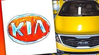How to draw KIA logo / AUTO LOGO car