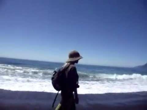 Hiking the amazing Lost Coast, California with friend Hili