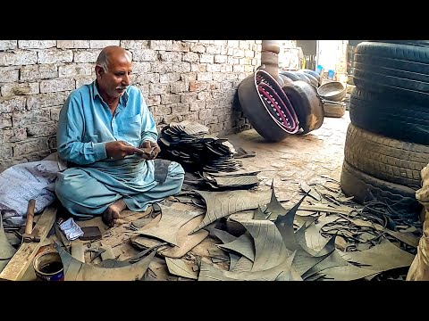Making of Amazing Shoes from Old Tires