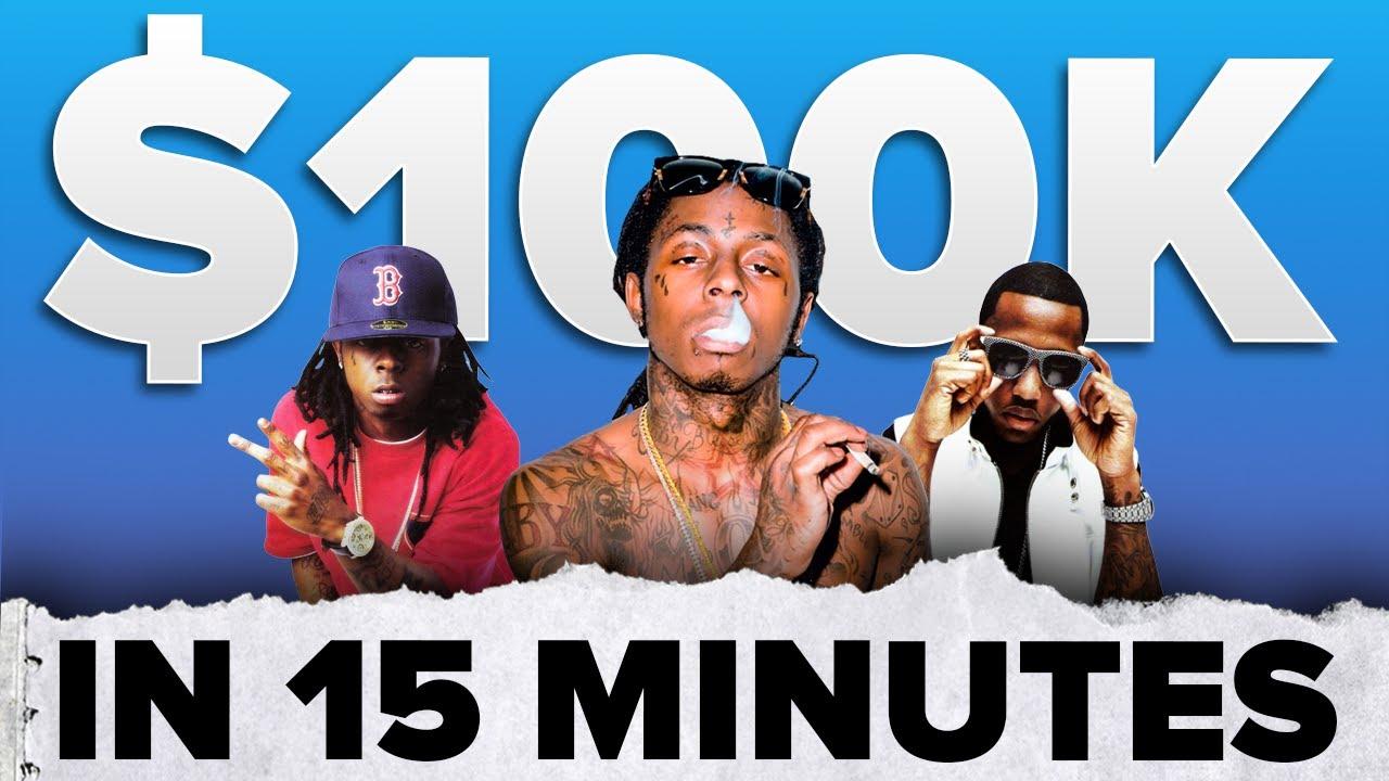 Lil Wayne Made $100k in 15 Minutes 😳 | #shorts