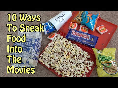 10 Ways To Sneak Food Into The Movie Theater- LIFE HACKS THAT WORK