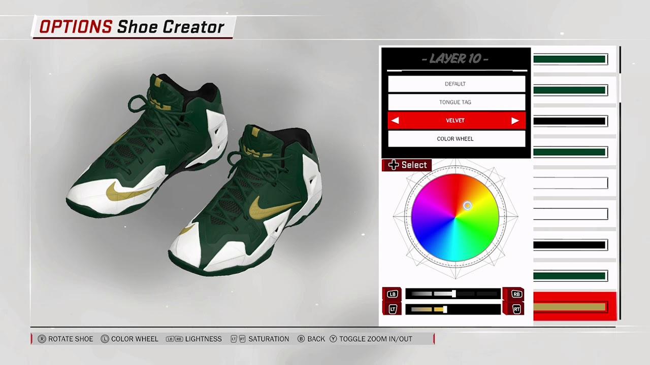 half off 9b218 c1fd1 NBA 2K18 Shoe Creator - Nike LeBron 11 PE