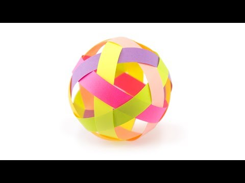 Easy Paper Ball Decoration Tutorial - DIY - Paper Kawaii