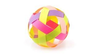 Easy Paper Ball Decoration Tutorial - DIY - Paper Kawaii