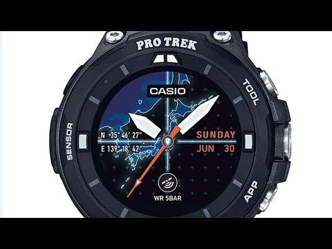 Casio Men's PRO TREK WSD F20 BKAAU Quartz Resin Outdoor Smartwatch