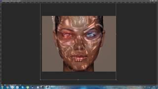 Делаем фото монтаж под Терминатора в Photoshop