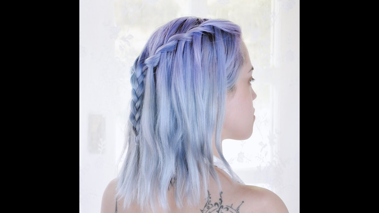 Blue pastel and purple hair photo recommend to wear in winter in 2019