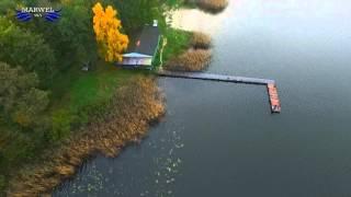 Jezioro Łukcze z lotu ptaka.