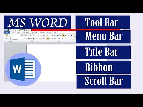 MS Word Toolbar   Menu bar   Title bar   Ribbon   Tutorial in Urdu/ Hindi: