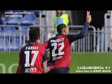 CAGLIARI-GENOA 4-1 - Radiocronaca di Giuseppe Bisantis (15/1/2017) da Rai Radio 1
