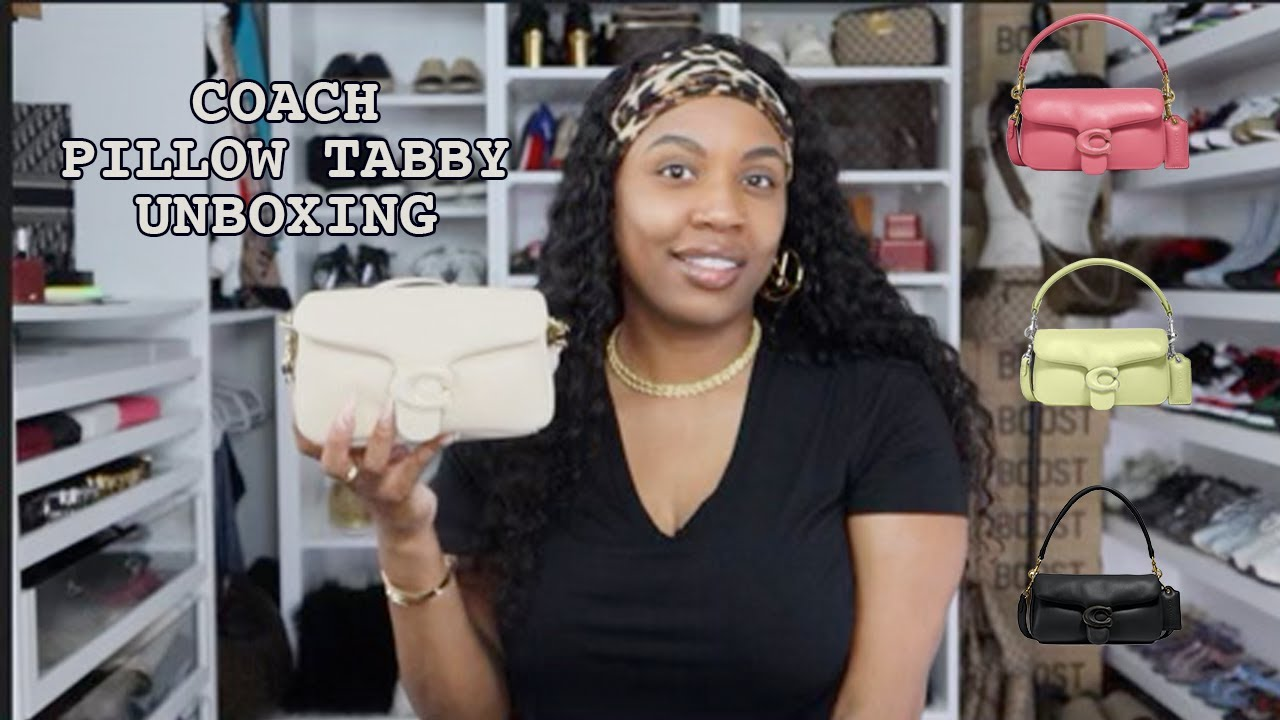 Download Coach Pillow Tabby Unboxing   Sydney White