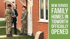 New service family homes officially opened at Tidworth