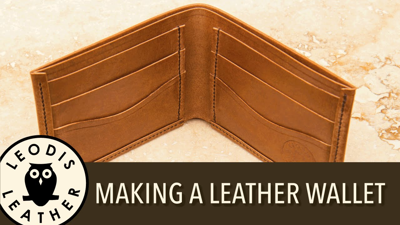 Making A Handmade Leather Wallet YouTube - Leather wallet template