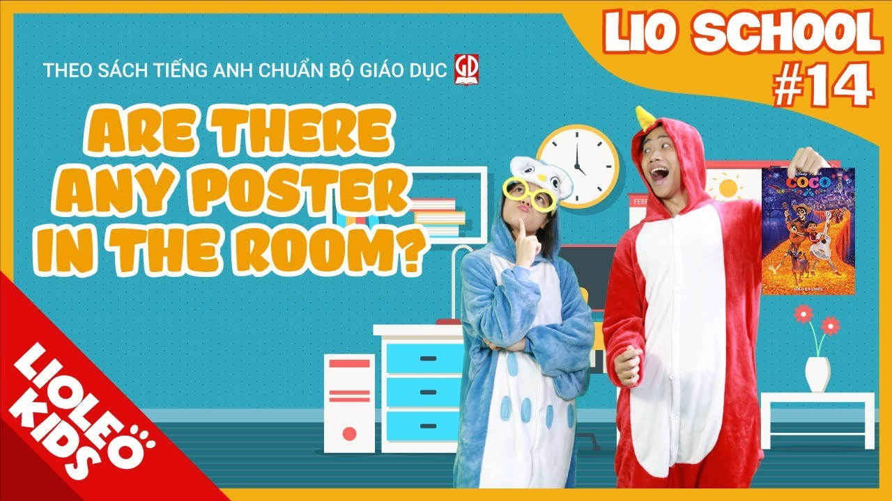 Tiếng Anh lớp3 Unit4:Are there any poster in the room Hướng dẫn học tiếng Anh lớp 3 trọn bộ 20 unit