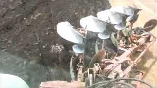 120 140 6160 Deutz Fahr tractors ploughing in NZ