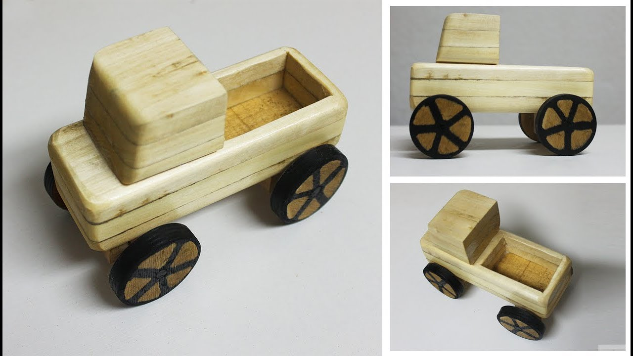 How To Make A Wooden Toy Truck Diy Wooden Toys Youtube