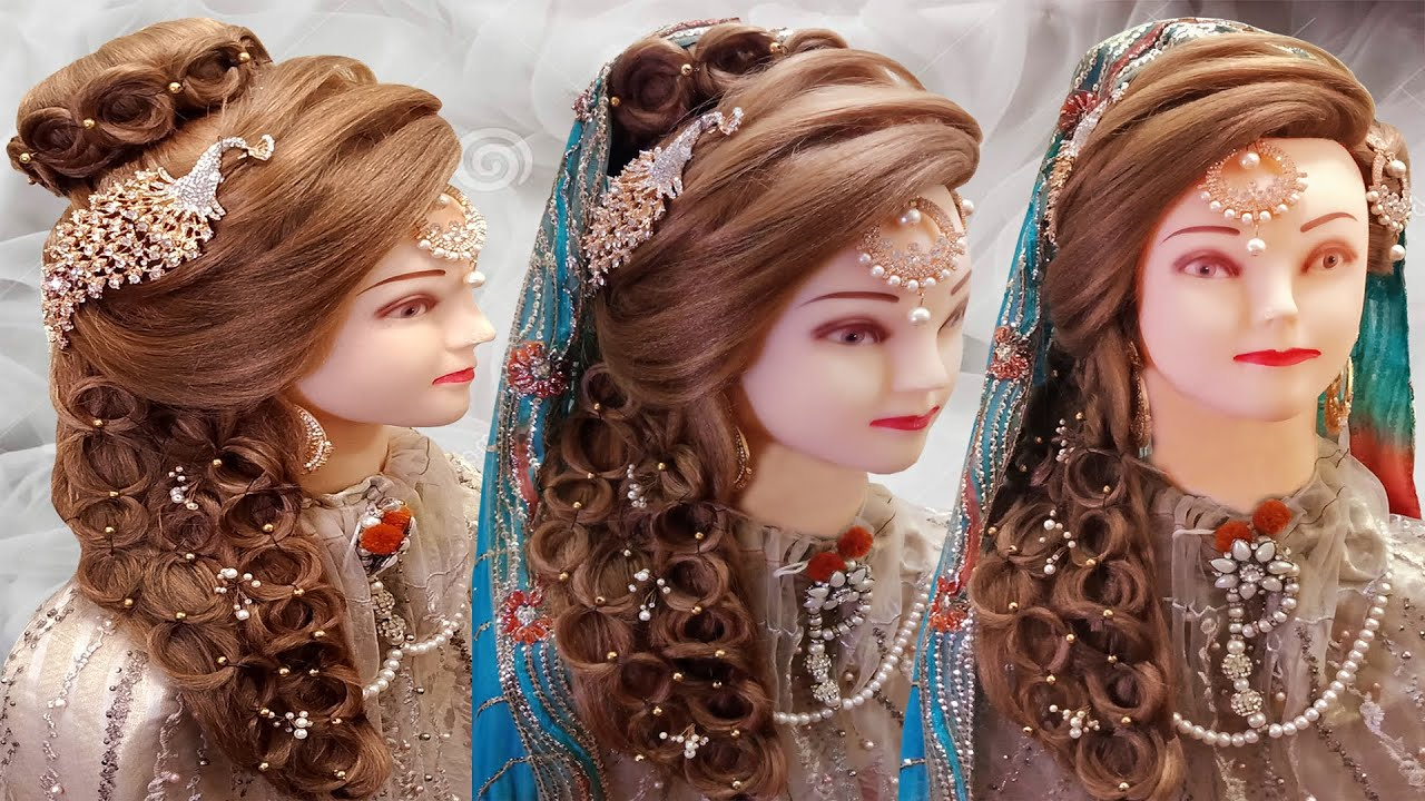 Kashee S Bridal Hairstyles Latest Bride Hairstyles 2020 Front Layer Puff Hairstyles Step By Step Youtube