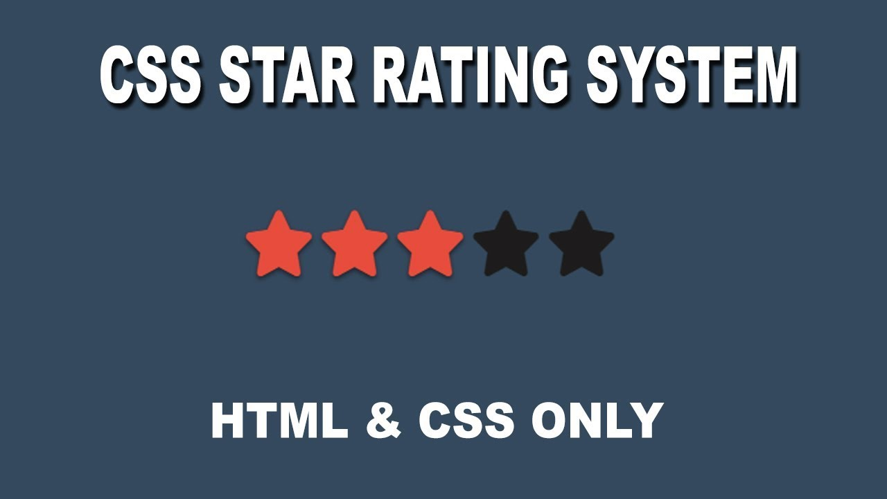 CSS Star Rating System - No JavaScript
