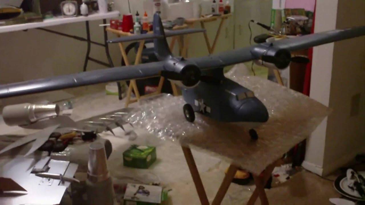 Guanli RC PBY CATALINA amphibian wheel conversion!