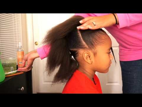 Ponytail Cornrow hairstyle for little girls (fast and easy)