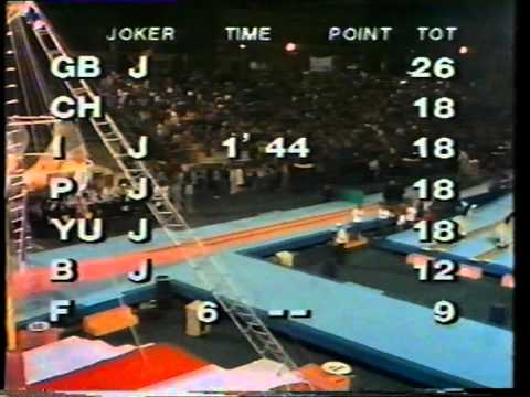 Jeux San Frontieres 1982 Italian Heat 1 BBC COMMENTARY PART 2/3