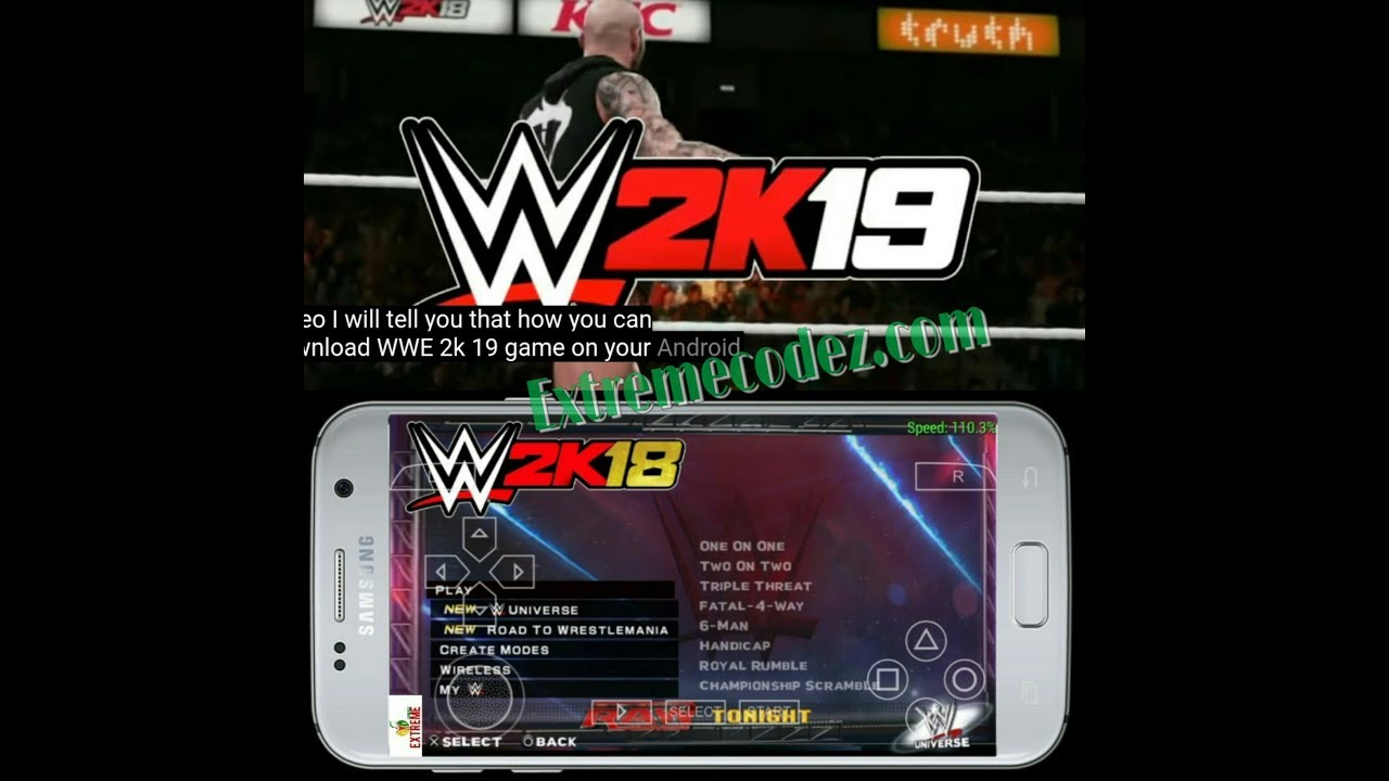 Download Wwe 2K19 And Wwe 2K18 Ppsspp Game Apk + Obb Data iSO File For Android  #Smartphone #Android