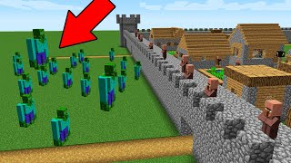 Zombie Golem ATTACK a House Base for Villagers in Minecraft