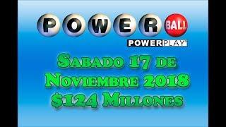 Gambar cover Resultados Powerball 17 Noviembre 2018 $124 Millones de dolares Powerball en Español