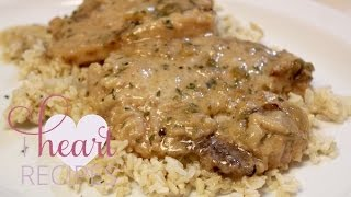 Slow Cooker Smothered Pork Chops and Gravy - I Heart Recipes