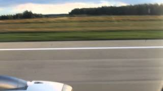 U6 105. Take-off from Domodedovo Airport Intl. (Moscow)