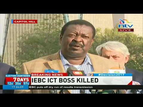 Nasa's statement condemning the brutal murder of IEBC's ICT officer, Chris Msando