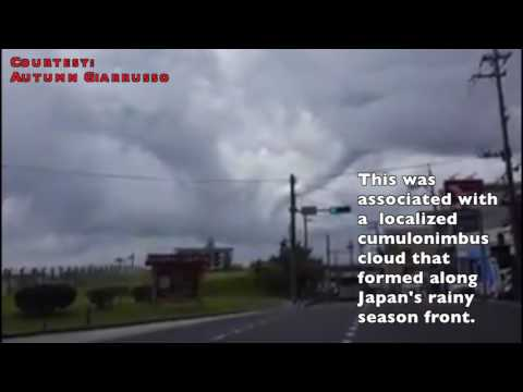 Residents in Okinawa Capture Waterspout on Camera