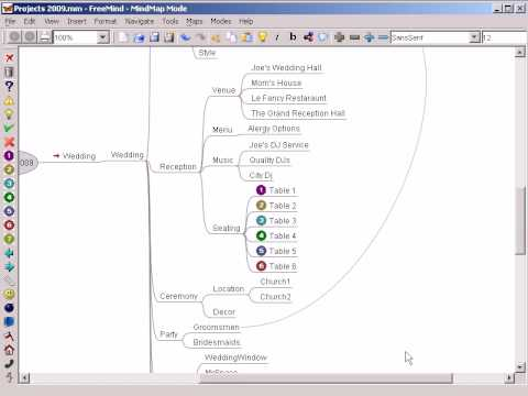 Freemind - How to import data to a mindmap