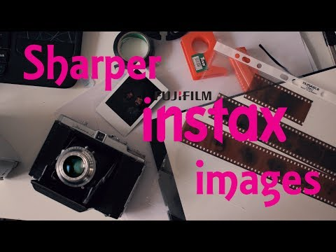 how to take instax photos with a medium format camera - YouTube