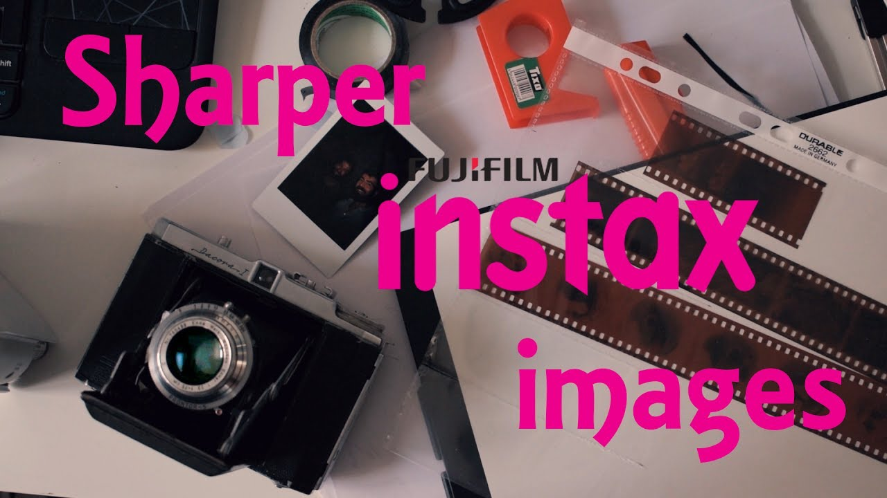 how to take instax photos with a medium format camera
